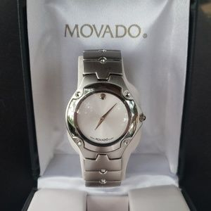 Mens Movado Watch All Stainless Steel